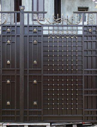Кованые ворота строгие