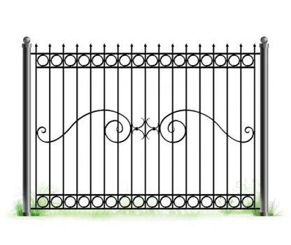 Простой кованый забор