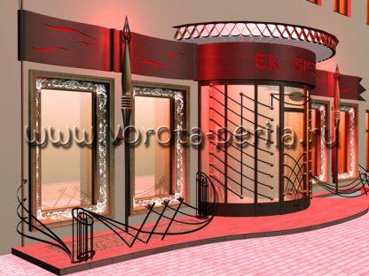 Кованый фасад ресторана