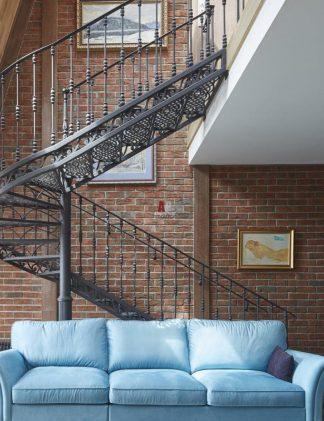 Кованая винтовая лестница Лофт