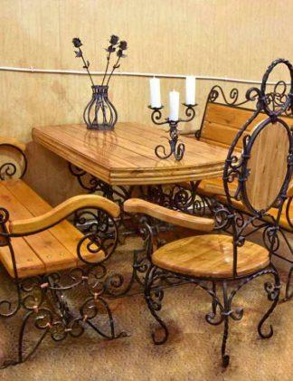 Кованая мебель для ресторана