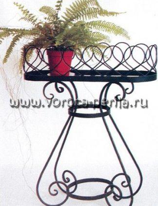 Кованая цветочница напольная