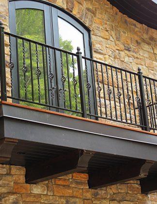 Кованые перила на балкон недорогие