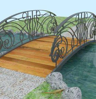 Кованый мостик с деревом