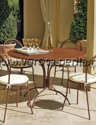 Кованая мебель коричневая