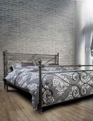Кованая кровать Лазурит